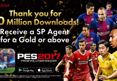 PES 2017 Mobile a quota 30 milioni di Download. Konami festeggia con un agente in regalo
