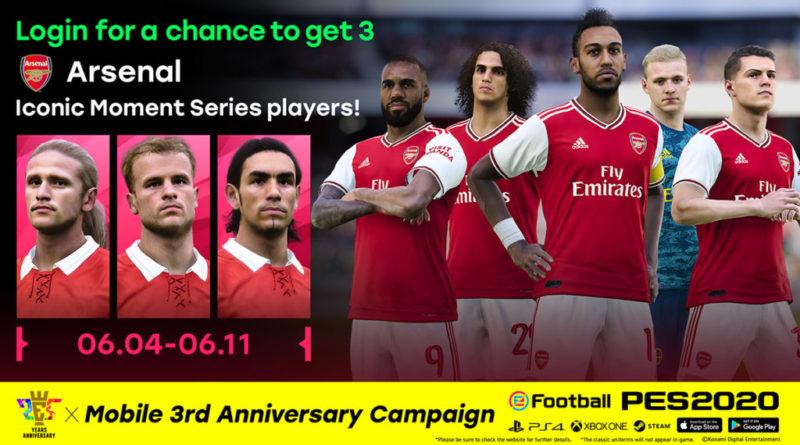 PES 2020 – Tre giri gratis di Iconic Moment Arsenal!