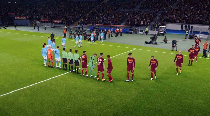 PES 2021 PS5 Tempi di Caricamento e Partita Completa Derby Roma Lazio in Notturna