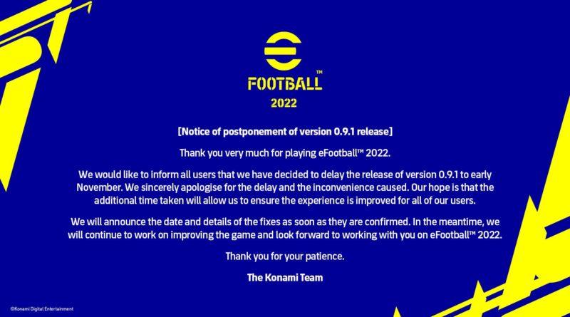 INCREDIBILE MA VERO E UFFICIALE: Konami rinvia l'aggiornamento del 28 ottobre